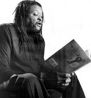 Quincy Troupe reading his poetry. Troupe became part of a circle of writers who would come to be known as the Watts Poets and Writers.