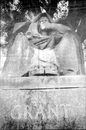 """U.S. """"Buck"""" Grant Jr.'s tomb at Greenwood Memorial Park. When U.S. and America Grant returned to San Diego for good in 1925, after six years traveling around the world, they moved into the U.S. Grant Hotel."""