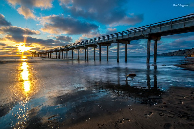 A summers eve at Scripps Pier....
