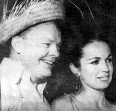 """Mr. and Mrs. Clifford Graham, July 1967. """"Kathy Graham could sure spend that money. They bought Bing Crosby's old ranch out there in Rancho Santa Fe, Rancho Osuna, and Cliff totally remodeled it for her."""""""