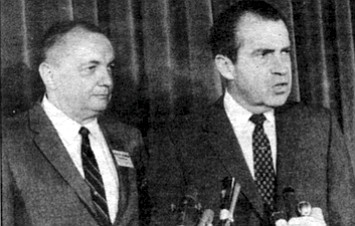 """Congressman Bob Wilson and Richard Nixon, August 1968. """"Wilson, the paper reported, """"has traveled to South Africa to investigate Graham's venture and feels it eventually could be worth 'billions, not millions.' """""""