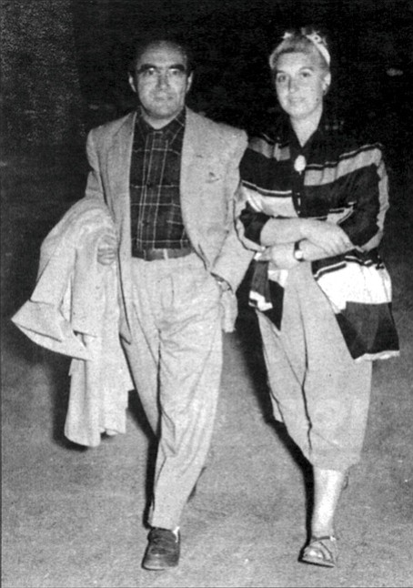 Jacob and Rita in Venice (1954). For years Rita had been Bruno's silent partner, keeping track of his suits and ties for continuity.