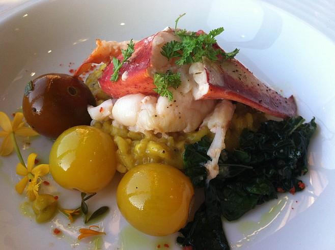 Lobster with saffron risotto