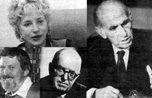 Gloria Penner, Jonas Salk, Russel Forester, C.P. Snow