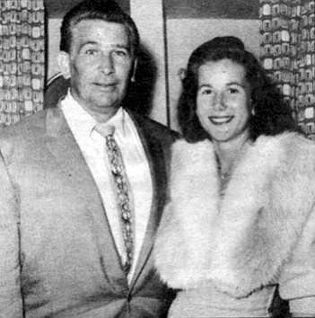 Mr. and Mrs. Vic Tanny, September 1958. Kathy had once been married to Vic Tanny, the self-made son of Italian immigrants who founded one of the nation's first chains of fitness clubs back in the late 1950s.