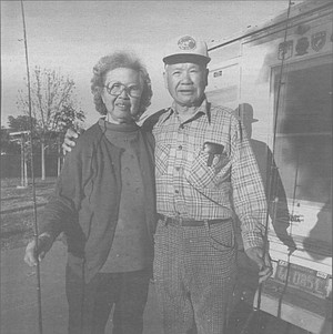 Uncle Freddy and his wife Susie. Uncle Freddy drives at 30 miles an hour on the freeway and highways. People come up on me fast at freeway speeds and shake their fist at me.
