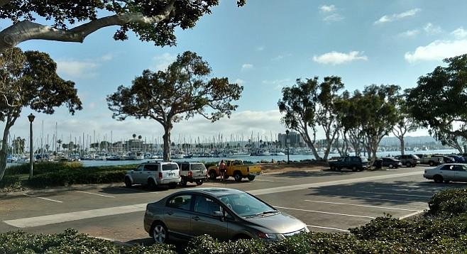 Plenty of parking available at Spanish Landing Park at 5 p.m. on a Thursday.