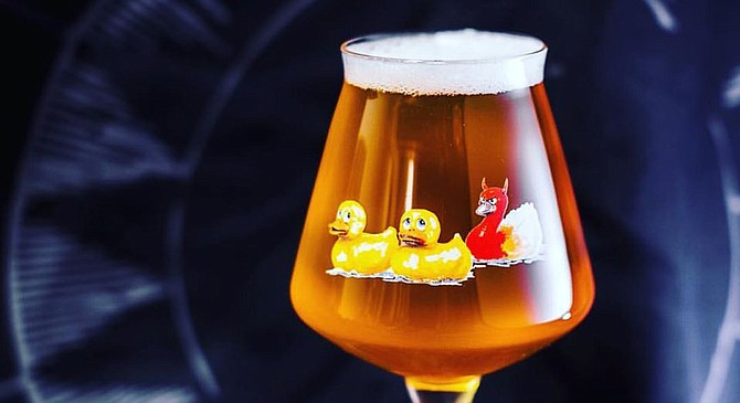 If these ducks look worried, it's probably because they're not sure whether their online beer purchase made it through or not.