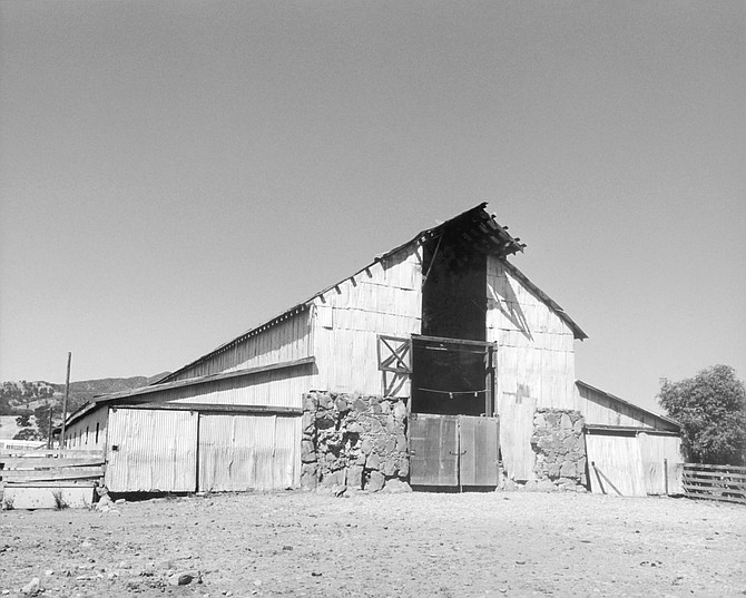 Barn on the site of asistencia Santa Margarita de Cortona