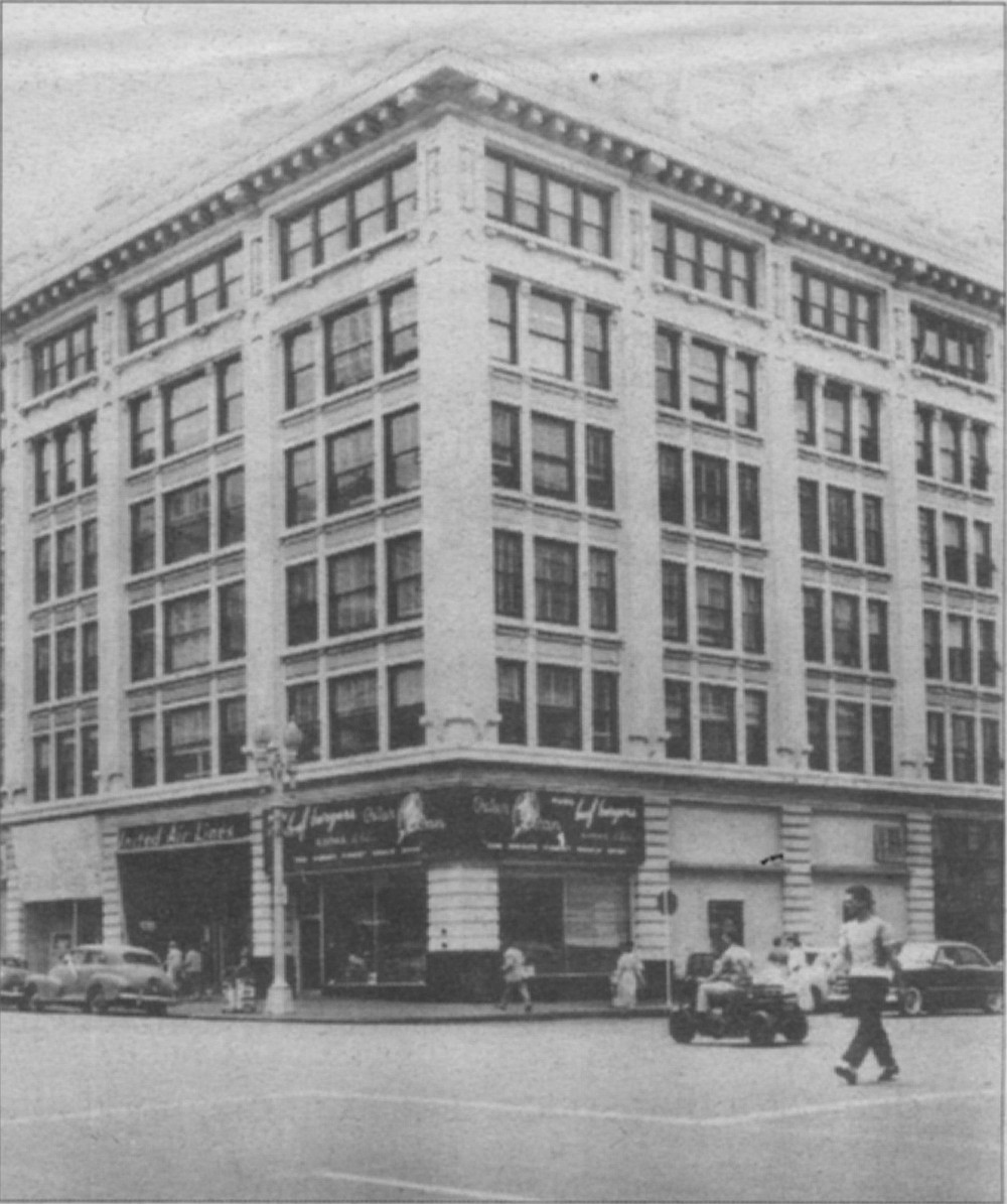 Union-Tribune building, Second and Broadway, 1952