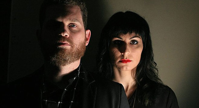 """Blood Ponies Jeff Terich and Candice Renee: """"People keep offering to play bass for us...we don't really need it. This is a two-person band."""""""
