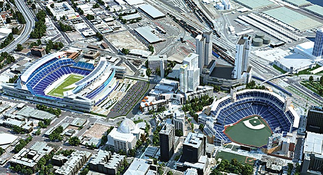 Stadium proposal rendering