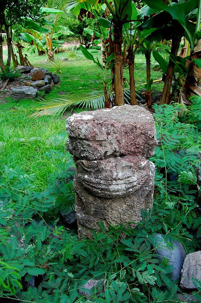 The large stone tiki at Hakamoui, Ua Pou.
