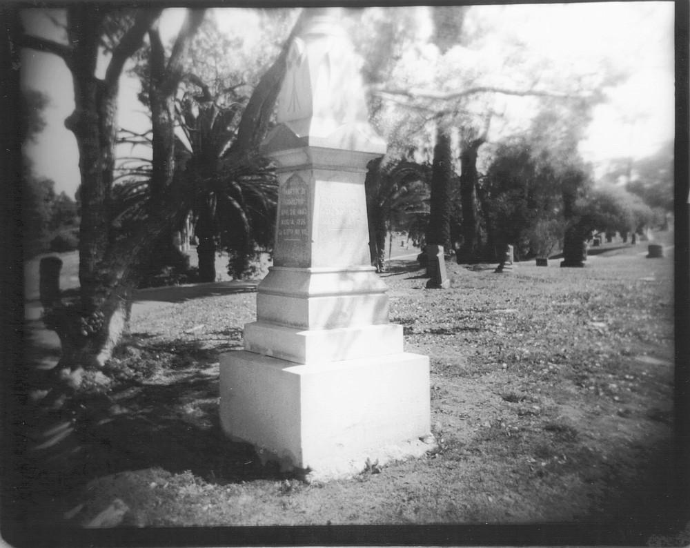 Martin Hamilton grave site. Hamilton lost an arm in the Civil War.