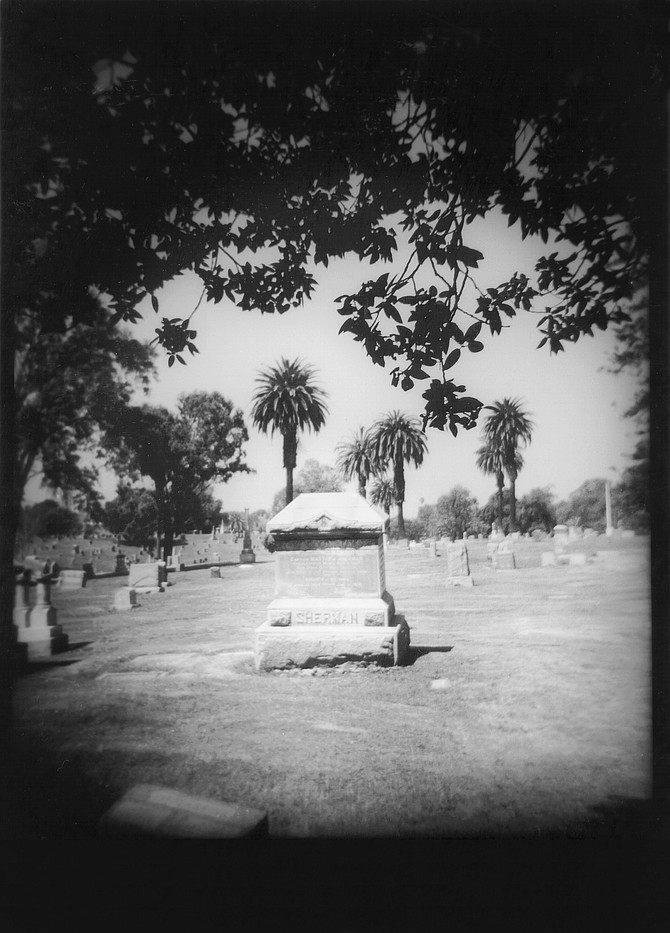 Sherman grave site. Matthew Sherman had served in the Civil War from San Diego, and he was one of the few soldiers of that period who remained after the war to found the city.
