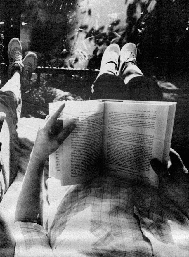 Peggy reading