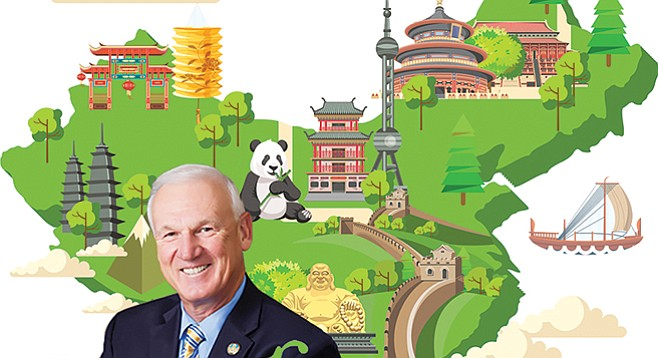 Ron Roberts skipped the slow boat to China in favor of business-class airfare courtesy of the Chinese government.