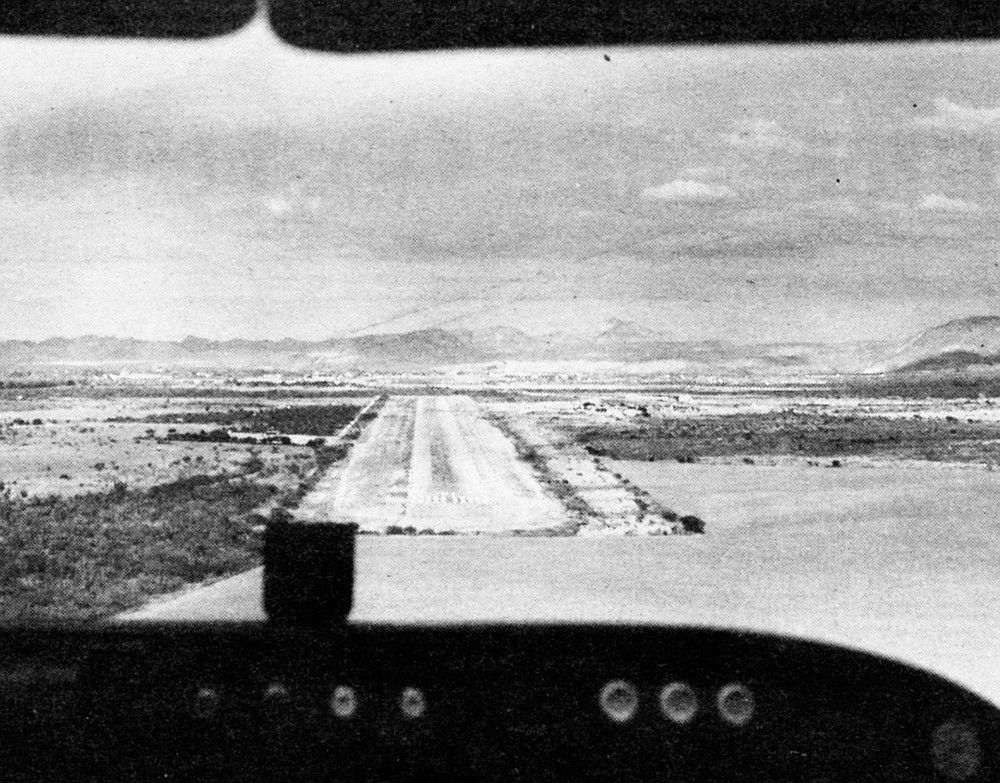 La Paz airport, 1950s. In 1964 Gardner had been invited to view some new cave paintings and fish-fossil beds near Santiago, so Muñoz flew him to La Paz.