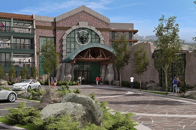 Artist rendering of the entrance to Stone Hotel, due in 2018