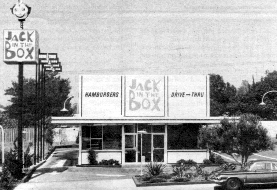 Photo: Jack in the Box restaurant, c  early 1970s   San