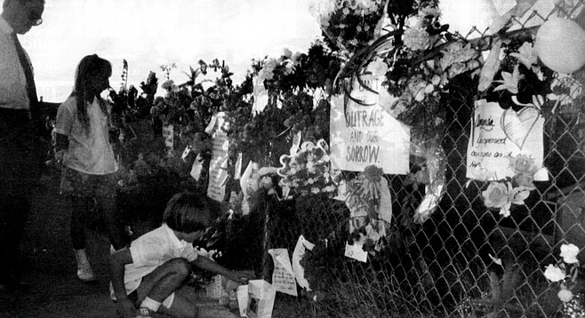 In the aftermath of her murder, the fence along the canyon where Amanda was found became a memorial.