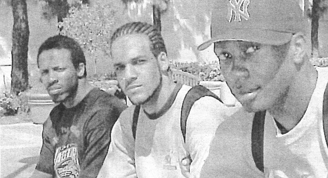 "(From left to right) Mazyck, Aazaar, and Vince. ""I'd die for my family, or anyone I loved, or something I strongly believe in. I don't believe in dying for my country."""