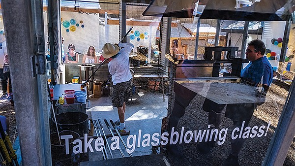 Despite the fest's knack for derivative art, glass-blowers and clay artists created unique pieces for onlookers.