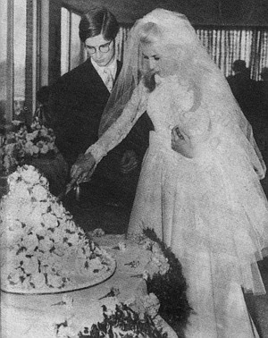 """April 12, 1963 """"The Twelfth of Never"""" was the song they chose as their wedding theme"""