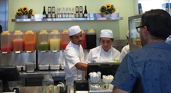 Beverage lineup at Lemonade in Hillcrest