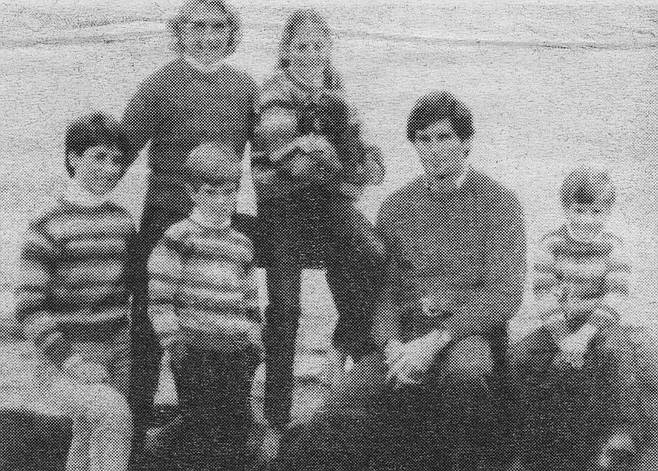 Broderick family, November 1984