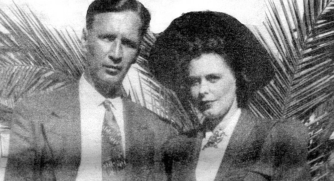 Jim and Alberta Thompson, early 1940s. There may never have lived a more ruthlessly honest storyteller.