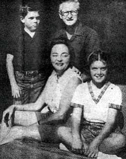 Michael, Jean, James, and Janice Copley, 1960