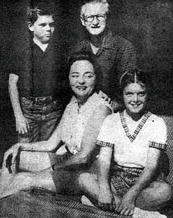 Michael, Jean, James, and Janice Copley, 1960