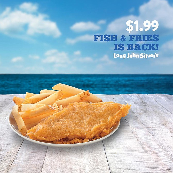 Long John Silver's $1.99 Fish & Fries is just one of our many hot, fresh and delicious meals - ready to order, straight from the sea!  For a limited time only, our world-famous #FishandFries is only $1.99.