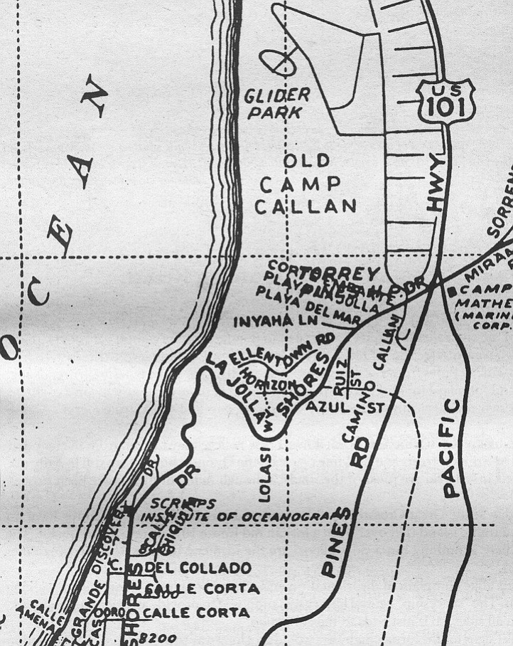 A Redie's map, c. 1956