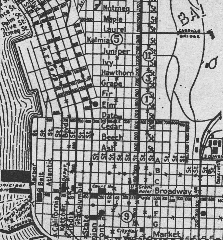 California Street area in 1925