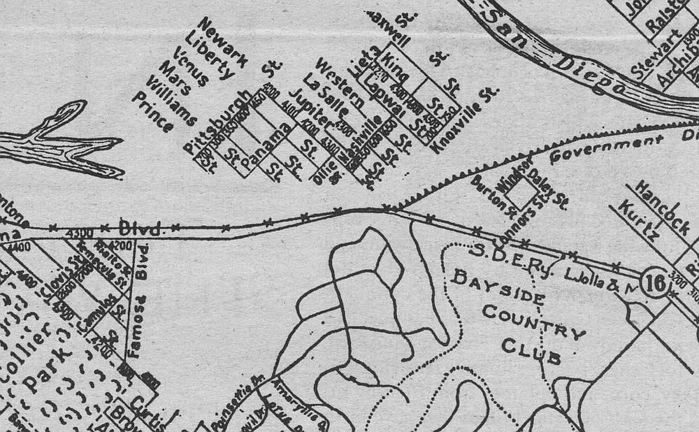 Nashville Street on a 1925 map