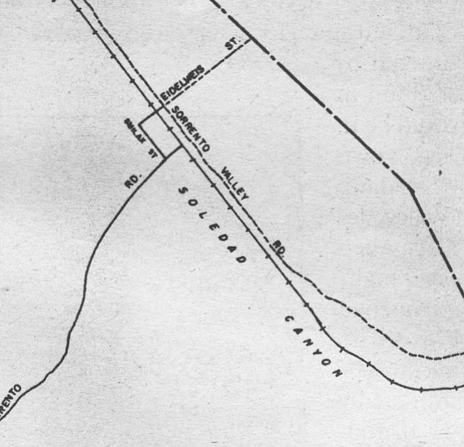 Sorrento Valley map