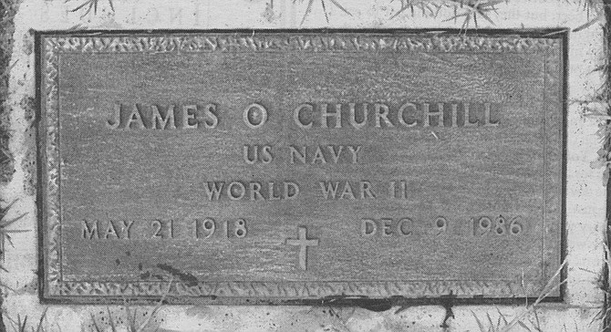 James Churchill's headstone, Mount Hope Cemetery. I couldn't face it—your dying. Later that day a nurse got in touch with me, and asked if you would like to sell any of your organs. I said no, I want you back whole.  - Image by Dave Allen