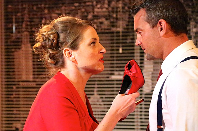Kate scorns and disobeys, Petruchio shouts insults and demands obedience