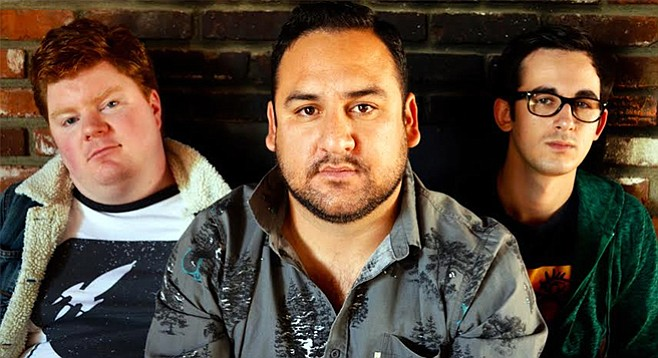 """Abner's Adam Baez (center) remembers his touring years with Fuzz-Huzzi and one particularly nasty night in Idaho: """"Some of the locals were openly racist and adamant about making it known."""""""