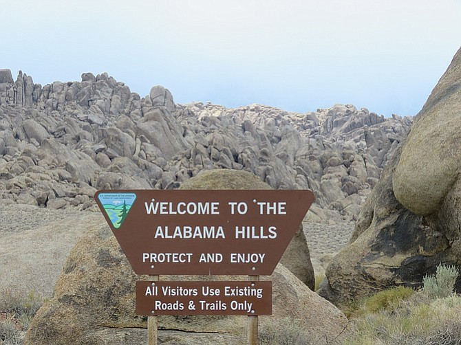 The Alabama Hills are a five-hour drive north, just off Highway 395.