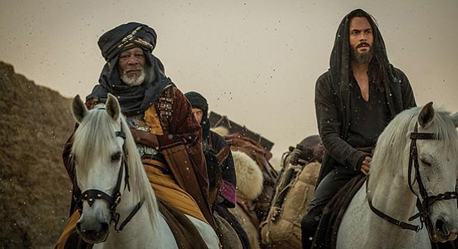 Ben Hur: Morgan Freeman picks up a check, and Jack Huston's no Heston.