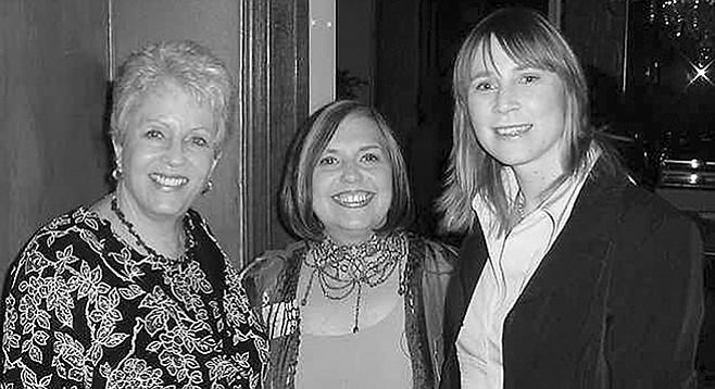 Marianne McDonald, Pat Launer, Bridget Brigitte at Rancho Santa Fe