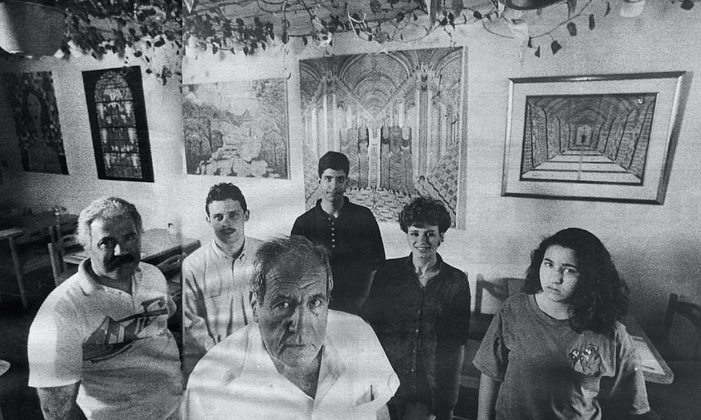 Fairouz Cafe staff (left to right): Mohammed Ramadan, Samer Murad, Shafiq Nashashibi, Yazan Kayyali, Miral Nashashibi, Tamara Nashashibi
