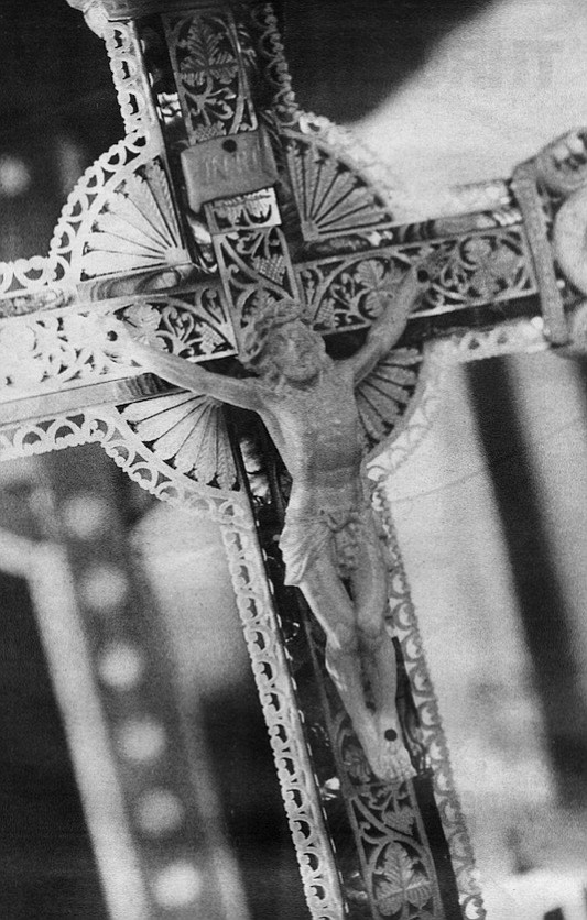 Hand-carved crucifix brought from Bethlehem