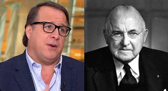 Michael Ferro and Frank Gannett (founder of Gannett)