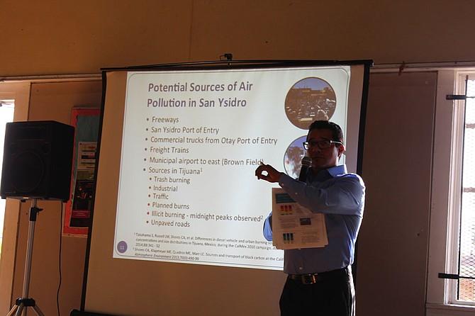 David Flores of Casa Familiar explains the potential sources of pollution.