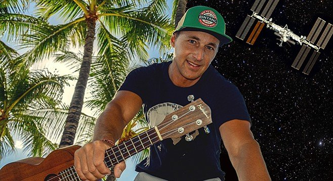 """Ukes in space! Former NASA engineer Turner will have his tropical tune """"Waves on the Ocean"""" played on the space station this year."""