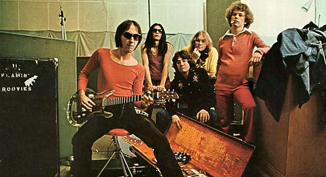 SanFran's golden nuggets band the Flamin' Groovies light up casbah Friday night!
